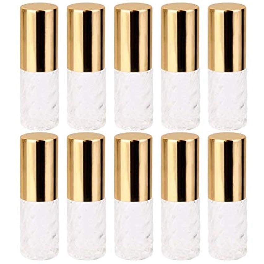 ネストスティーブンソン南アメリカ10個 5ml 透明 交換 旅行 空 ロールオン ガラス 香水瓶 容器 コスメ 詰替え 便利