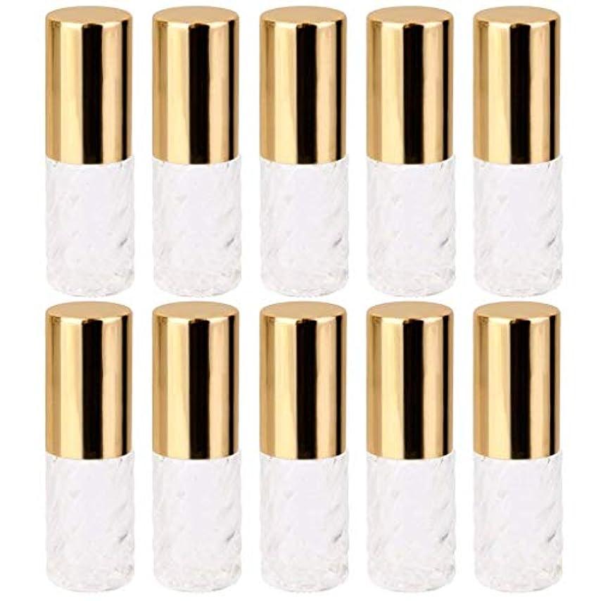 参照不合格不良10個 5ml 透明 交換 旅行 空 ロールオン ガラス 香水瓶 容器 コスメ 詰替え 便利