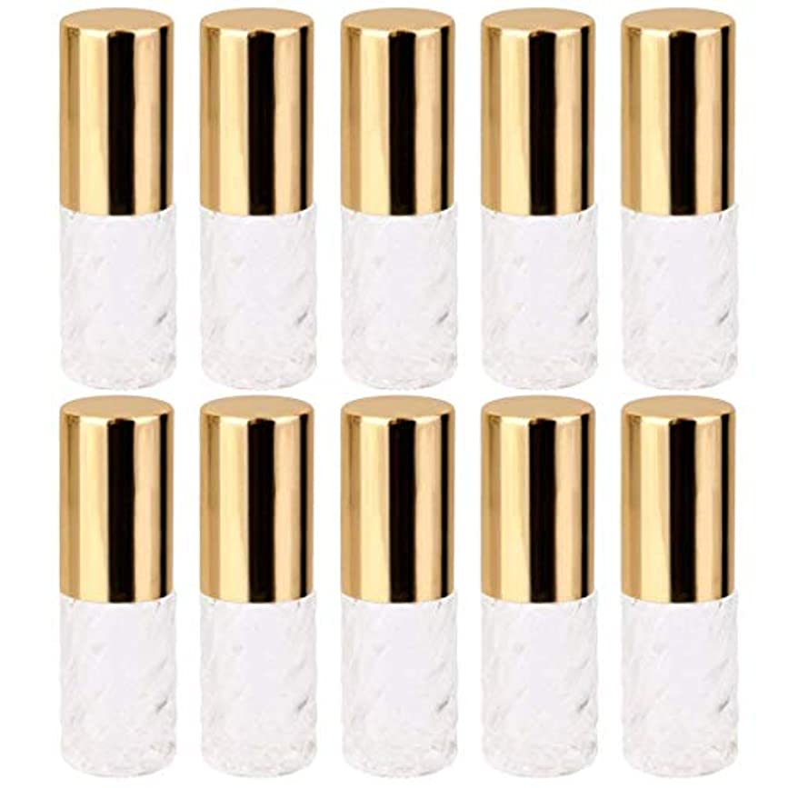 スキルプラグ傾向がある10個 5ml 透明 交換 旅行 空 ロールオン ガラス 香水瓶 容器 コスメ 詰替え 便利