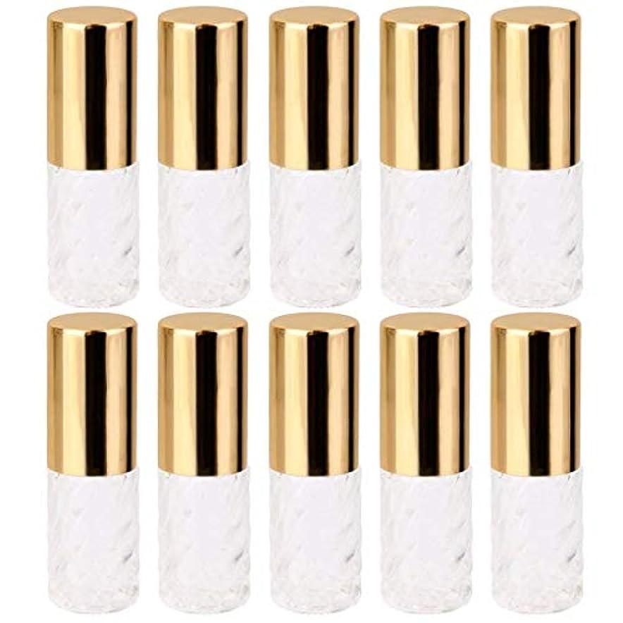 ライトニング顕微鏡暖炉10個 5ml 透明 交換 旅行 空 ロールオン ガラス 香水瓶 容器 コスメ 詰替え 便利