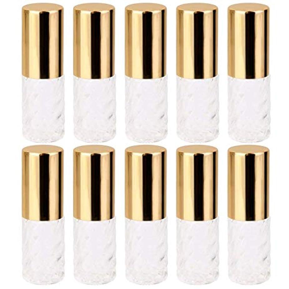 ペースト症候群制裁10個 5ml 透明 交換 旅行 空 ロールオン ガラス 香水瓶 容器 コスメ 詰替え 便利