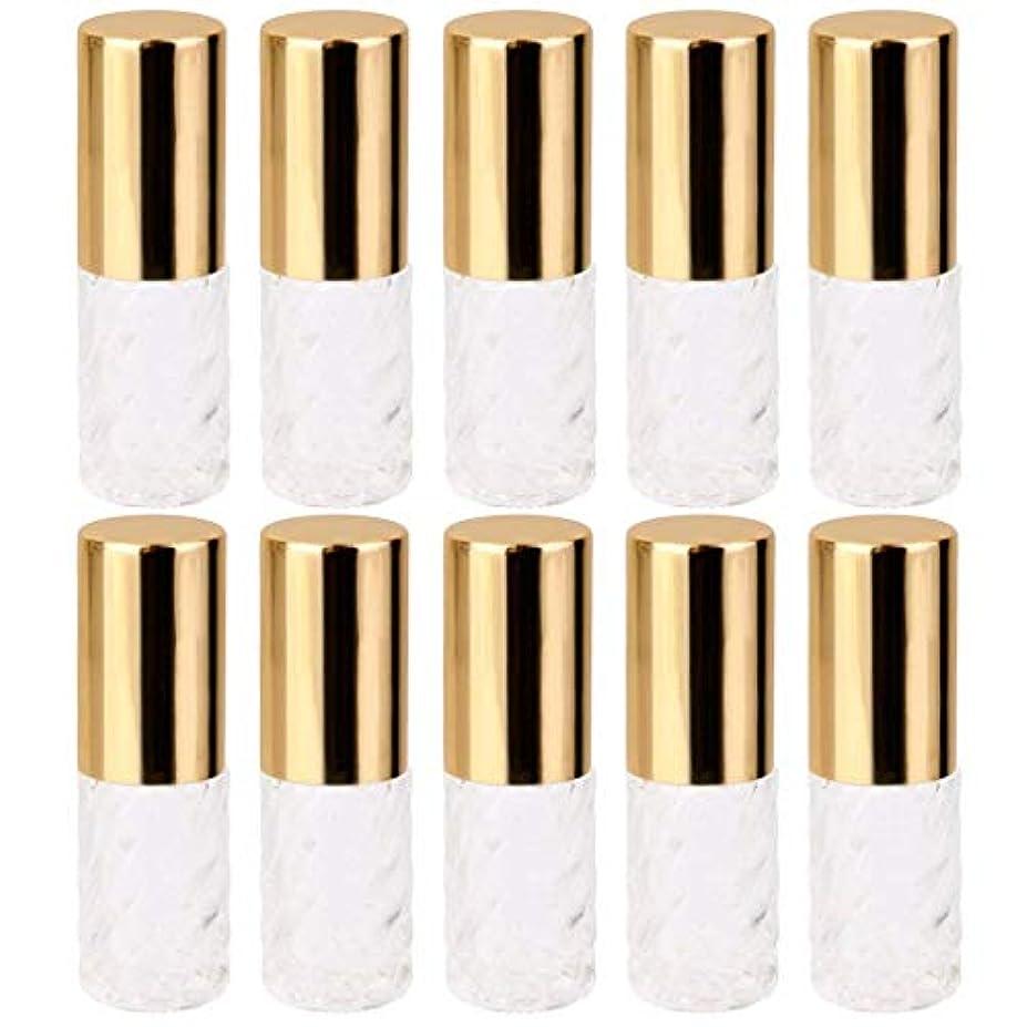 付き添い人ミネラルパステル10個 5ml 透明 交換 旅行 空 ロールオン ガラス 香水瓶 容器 コスメ 詰替え 便利