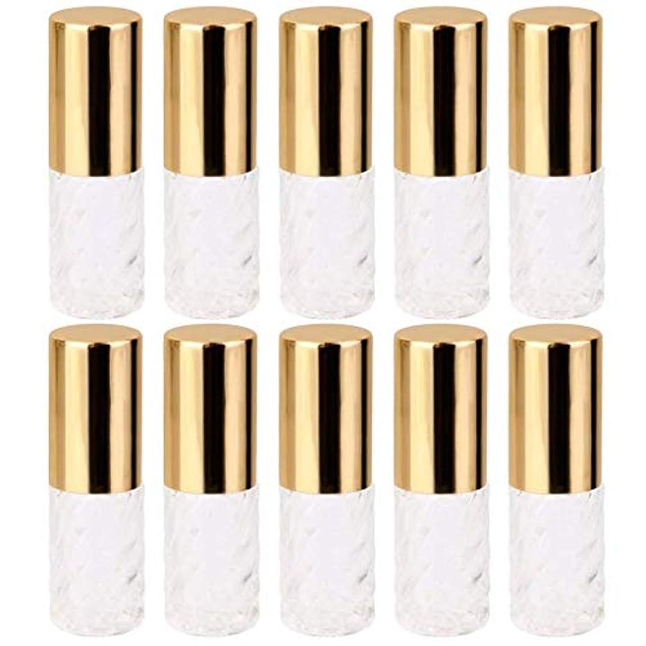 パーツ本部実験的10個 5ml 透明 交換 旅行 空 ロールオン ガラス 香水瓶 容器 コスメ 詰替え 便利