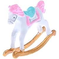 Lovoski 人形の家 装飾 小型 ロッキング 馬 モデル 部屋 装飾 1/12スケール ドールハウス用
