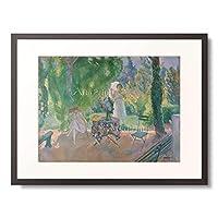 アンリ・ルバスク Henri Lebasque 1865-1937 「Women in a garden. About 1923」 額装アート作品