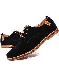 [MAZU] 4色選べ スエード レースアップシューズ メンズ 大きいサイズ カジュアル シューズ 外羽根 ワーク ブーツ オックスフォード プレーントゥ カジュアルシューズ スウェード 靴 24.0cm-29cm