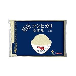 【精米】【Amazon.co.jp限定】会津産 無洗米 コシヒカリ 5kg 平成29年産
