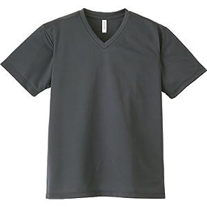 [グリマー]半袖 4.4オンス ドライ Vネック Tシャツ 00337-AVT ダークグレー Lサイズ [メンズ]