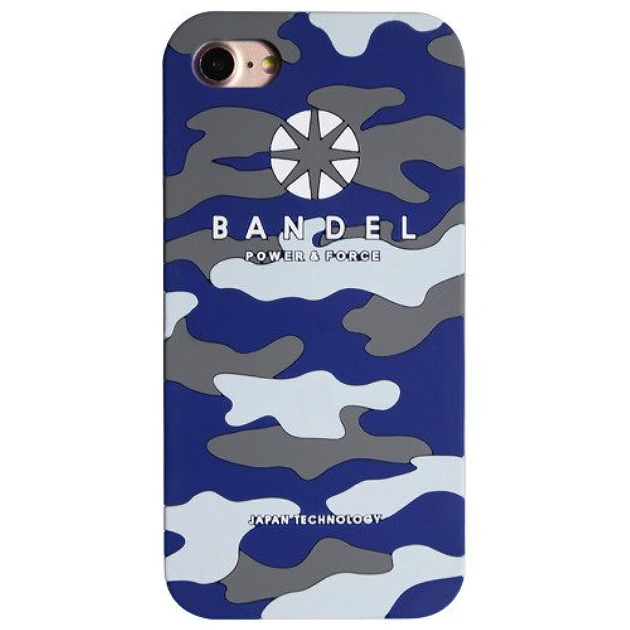 腐敗ハム同一のバンデル(BANDEL) ロゴ iPhone 7専用 シリコンケース [ネイビー×カモフラージュ]