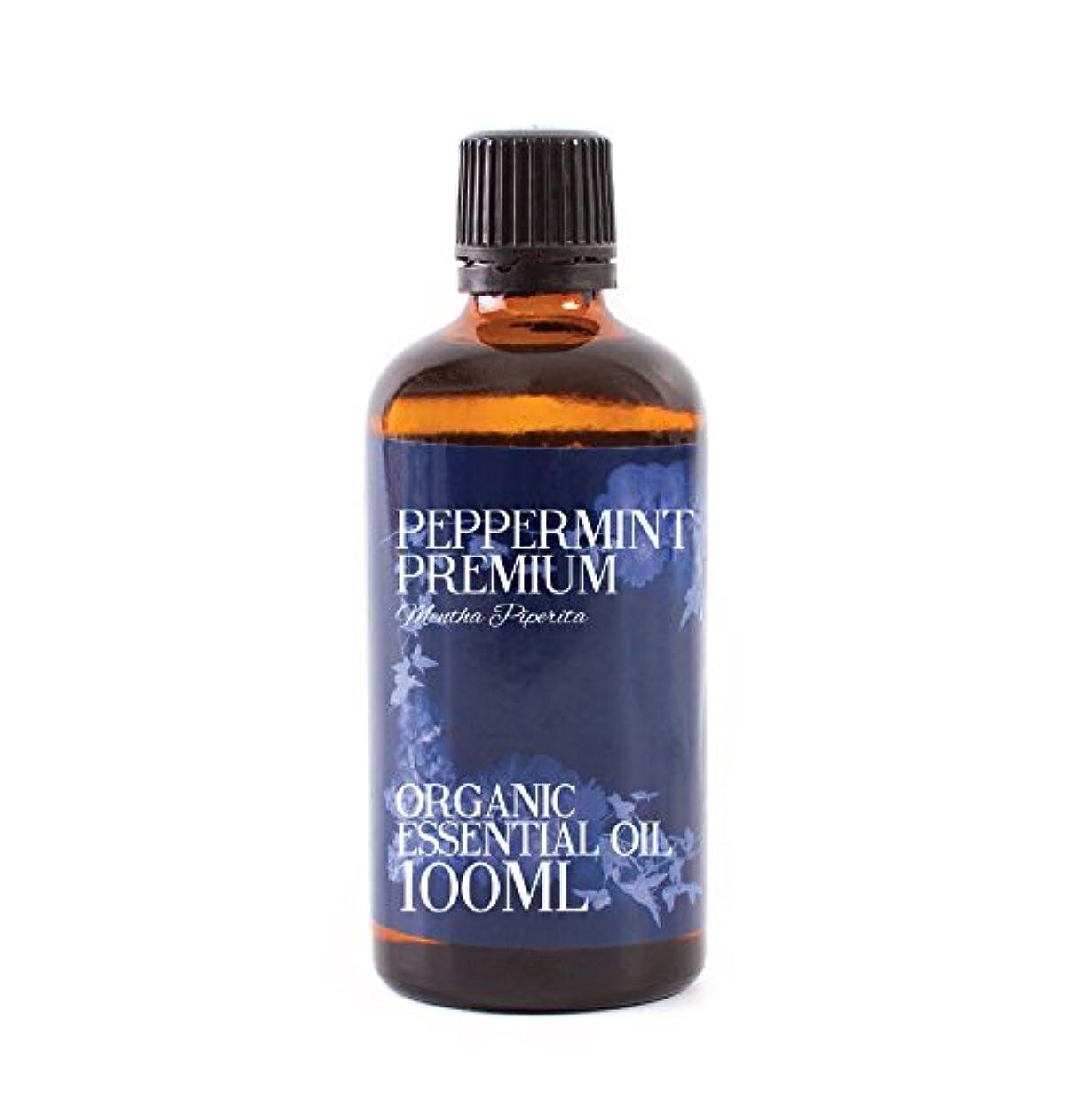 批判するのど本物Mystic Moments   Peppermint Premium Organic Essential Oil - 100ml - 100% Pure