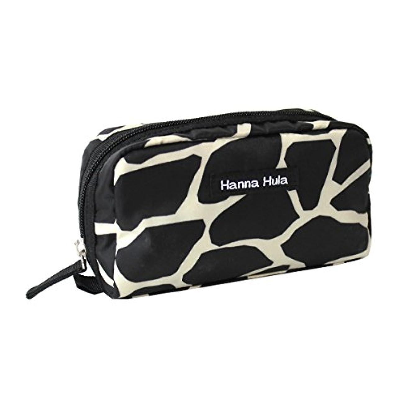 第三実業家公式Hanna Hula ペット ミニポーチ ポケット付き 軽量 ジラフブラック 横17×縦9×奥行き5cm 61g