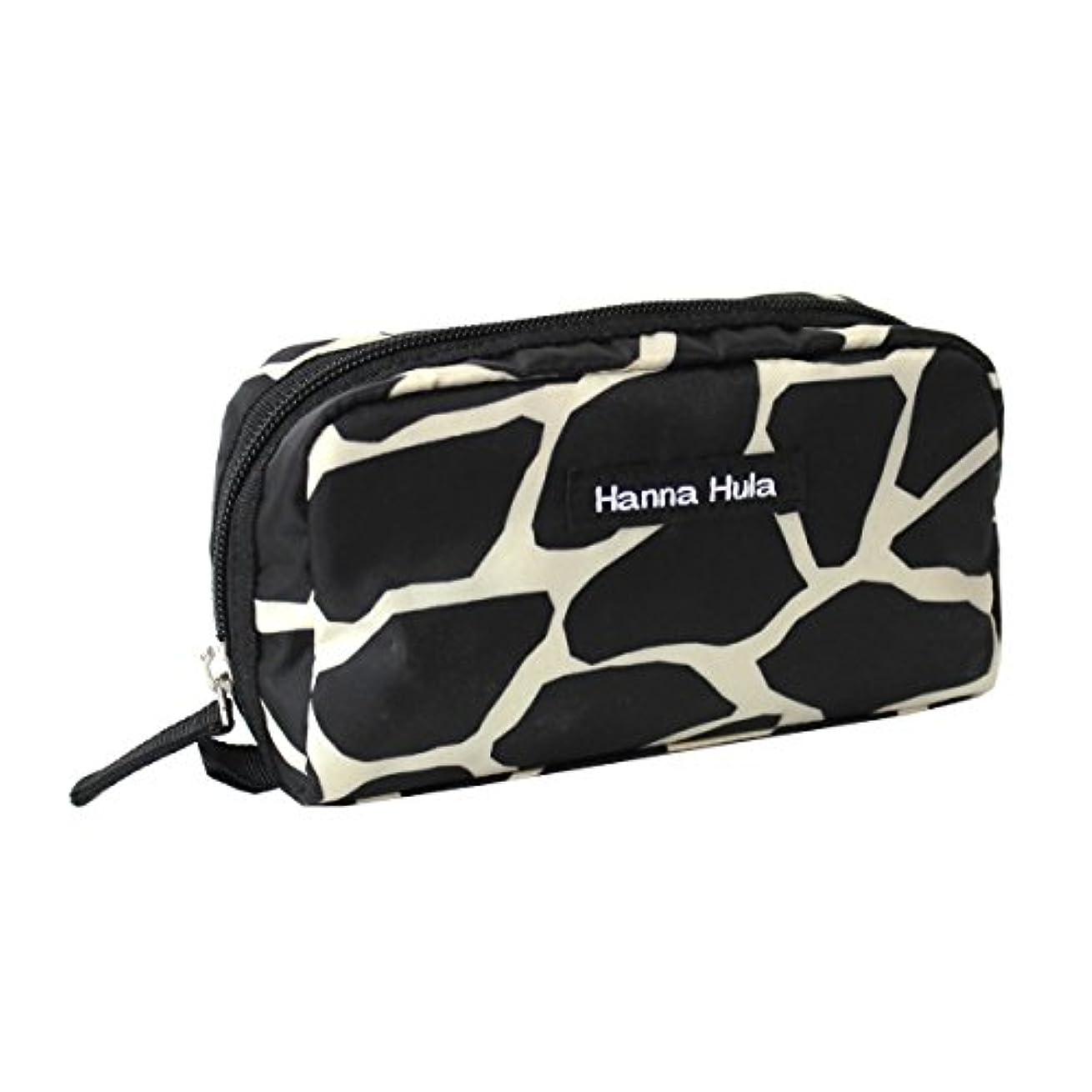 のぞき見報酬の建築Hanna Hula ペット ミニポーチ ポケット付き 軽量 ジラフブラック 横17×縦9×奥行き5cm 61g