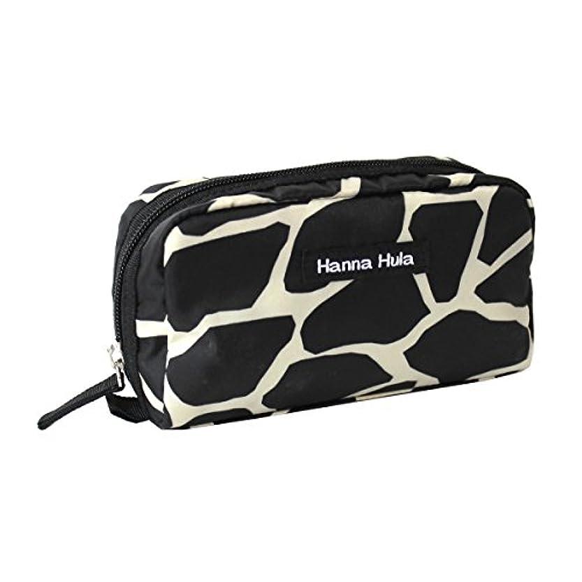 電化する過激派ファブリックHanna Hula ペット ミニポーチ ポケット付き 軽量 ジラフブラック 横17×縦9×奥行き5cm 61g