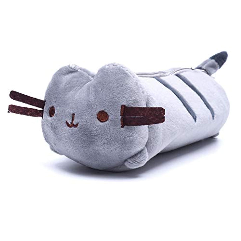 MILICOCO ペンポーチ 化粧品ポーチ 収納ポーチ ぬいぐるみ 筆箱 モフモフ 萌え猫型 軽量 小物入れ 可愛い 人気 プレゼント 小遣い入れ 柔らかい
