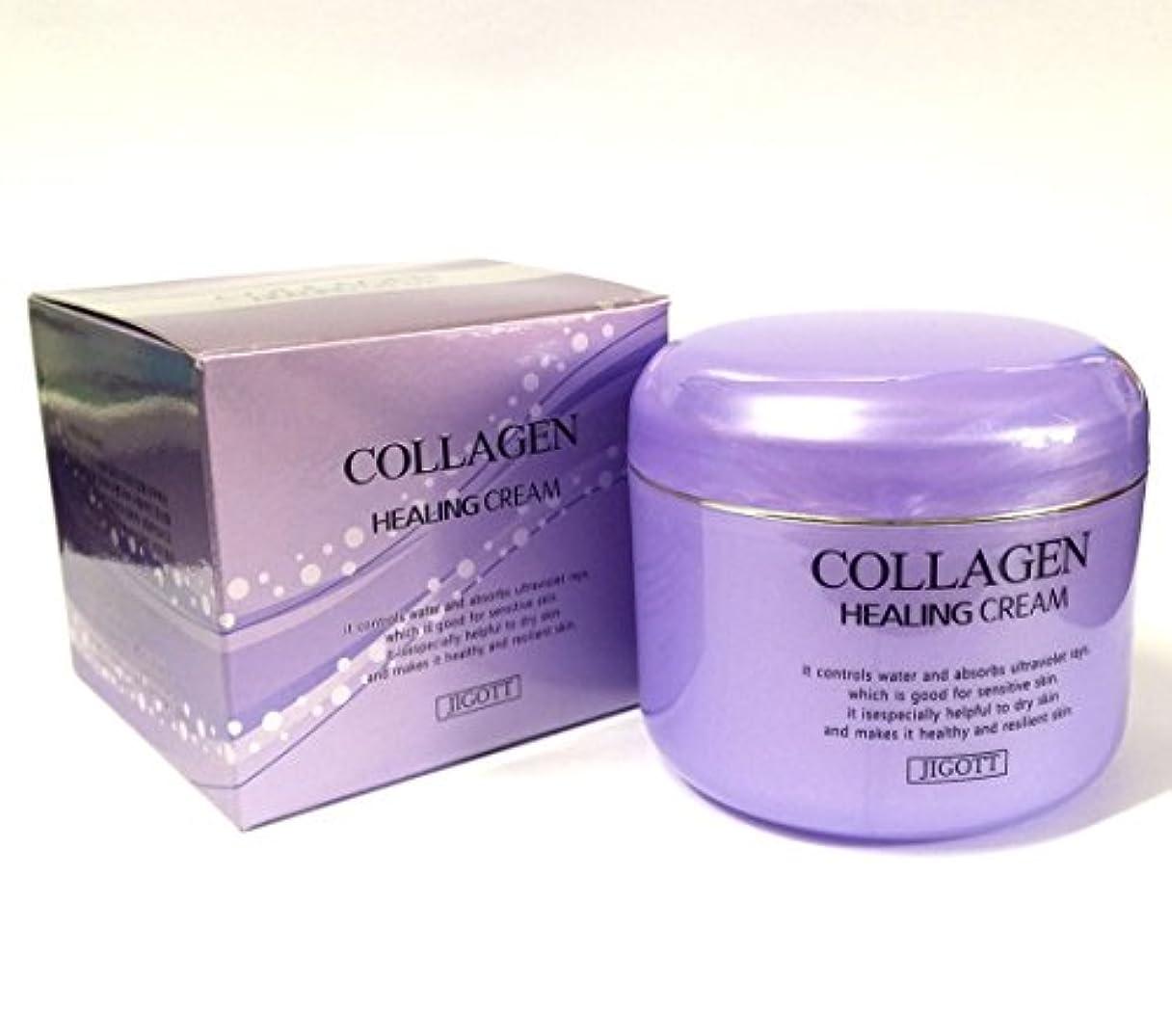 講師おなじみのご飯[JIGOTT] コラーゲンヒーリングクリーム100g/Collagen Healing Cream 100g/保湿、栄養/韓国化粧品/moisturizing,nourishing/Korean Cosmetics (2EA) [並行輸入品]