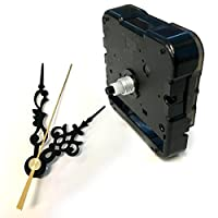 手作り時計用ムーブメント 時計シャフト & 針セット (静かなスイープ式ショートシャフト, 唐草・黒Q-1)