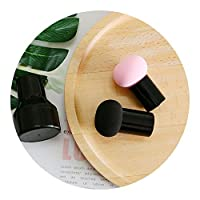 ラウンドヘッド小さなキノコパウダーパフルース,★キノコパフパック(ブラック+ピンク)