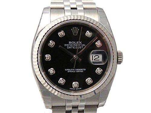 ロレックス デイトジャスト 116234G ブラック メンズ 腕時計 [並行輸入品]