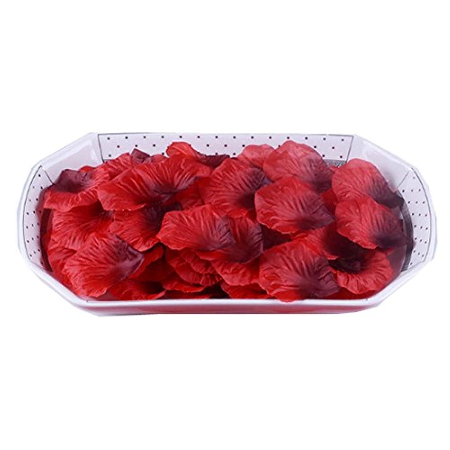 リビングルームペース過ち人工花びらの結婚式の装飾品は、3000の花びらのセットをバラ