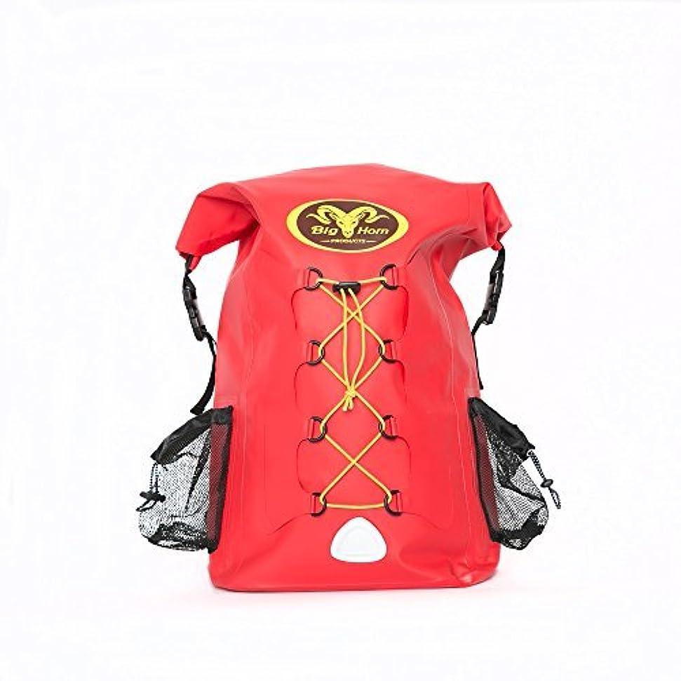 符号署名憧れWaterproof Backpack by Big Horn Products - Large 30L Rolltop Dry Bag Backpack Perfect for Outdoor Adventures (Red) [並行輸入品]