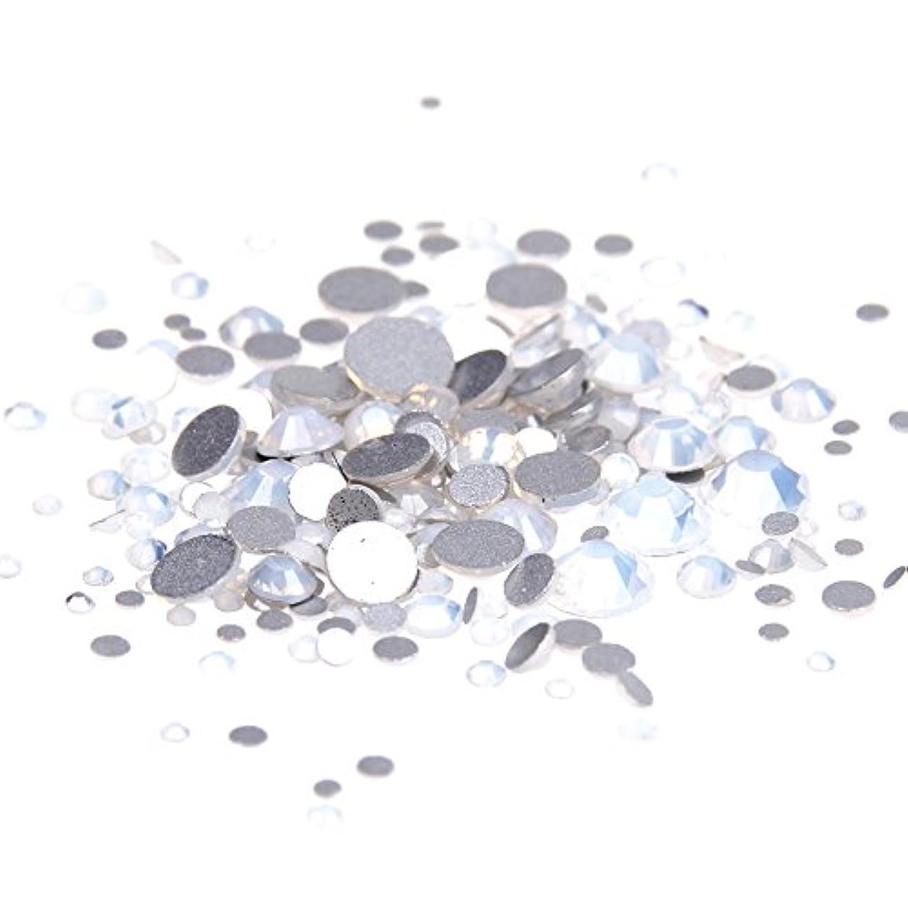 問い合わせギネス財政Nizi ジュエリー ブランド ホワイトオパール ラインストーン は ガラスの材質 ネイル使用 型番ss3-ss34 (SS16 1440pcs)