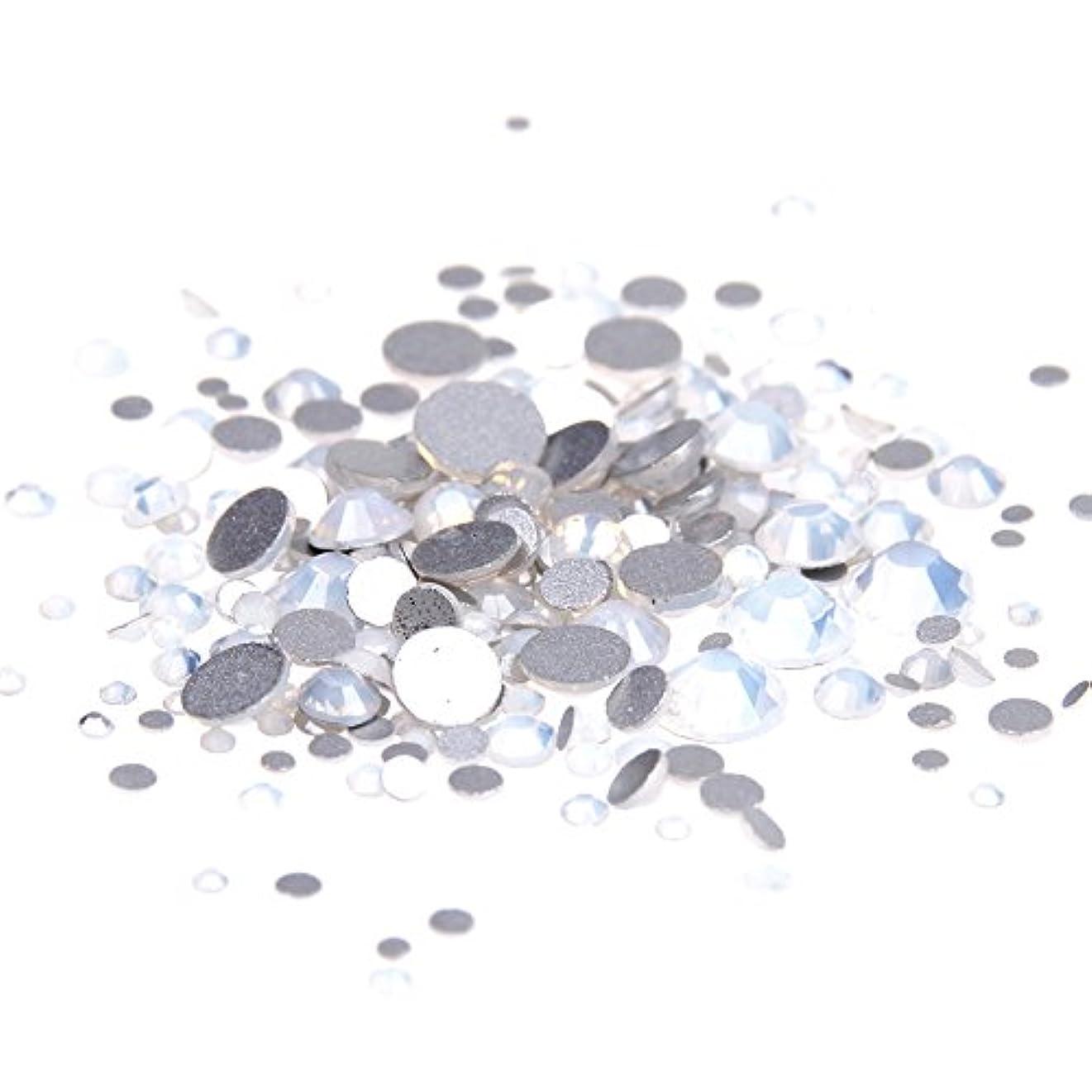 スタンド彼自身グラムNizi ジュエリー ブランド ホワイトオパール ラインストーン は ガラスの材質 ネイル使用 型番ss3-ss34 (SS12 1440pcs)