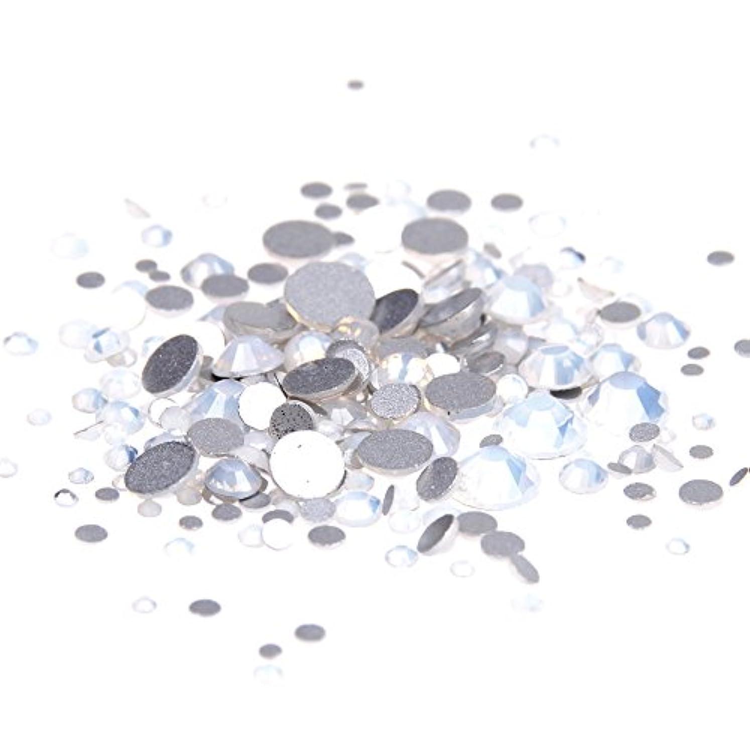 七面鳥節約するサークルNizi ジュエリー ブランド ホワイトオパール ラインストーン は ガラスの材質 ネイル使用 型番ss3-ss34 (SS4 1440pcs)