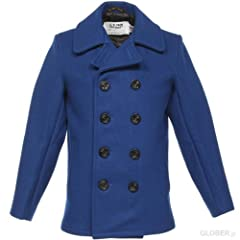 Schott NYC 24 Oz. Melton Wool Naval Pea Coat 753 (7118)