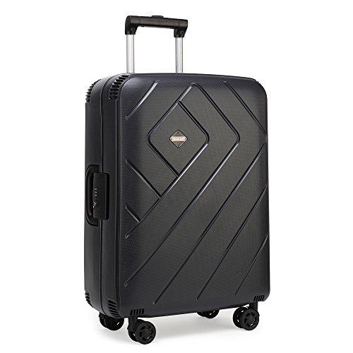 クロース(Kroeus) スーツケース 人気 4輪ダブルキャスター 静音 PPケース 大容量 軽量 キャリーケース 旅行 出張 TSAロック 4重ロック ネームタグ付 2XL ブラック