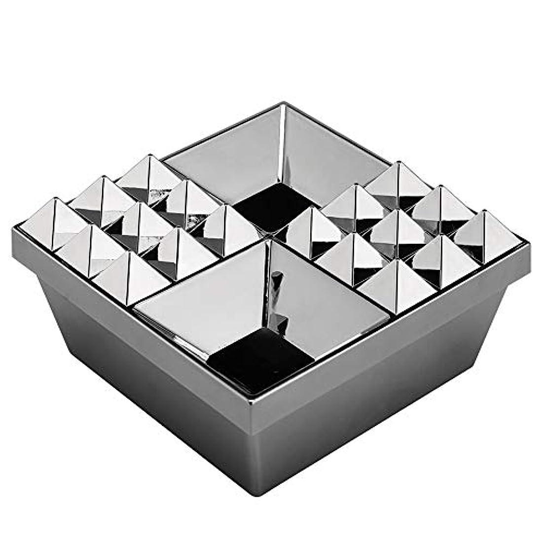 中傷エンコミウムふたの家の装飾とタバコの創造的な灰皿のための灰皿 (色 : 銀)