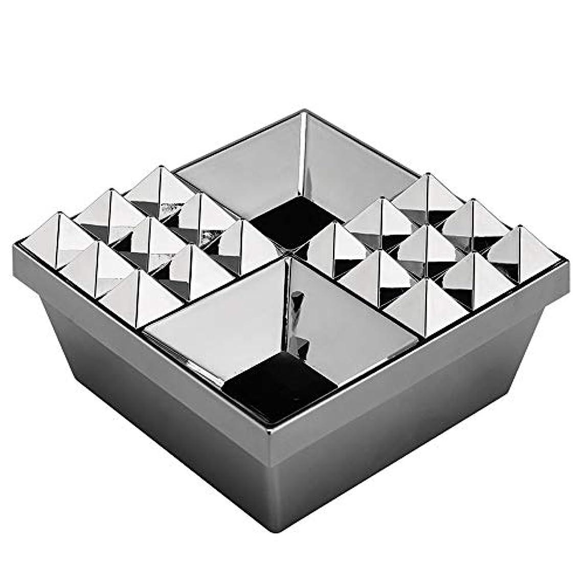 勝者適度にティーンエイジャーふたの家の装飾とタバコの創造的な灰皿のための灰皿 (色 : 銀)