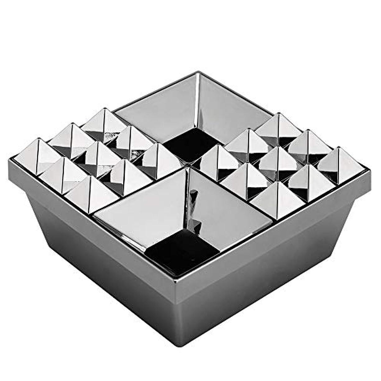 ネクタイに負ける引き出しふたの家の装飾とタバコの創造的な灰皿のための灰皿 (色 : 銀)