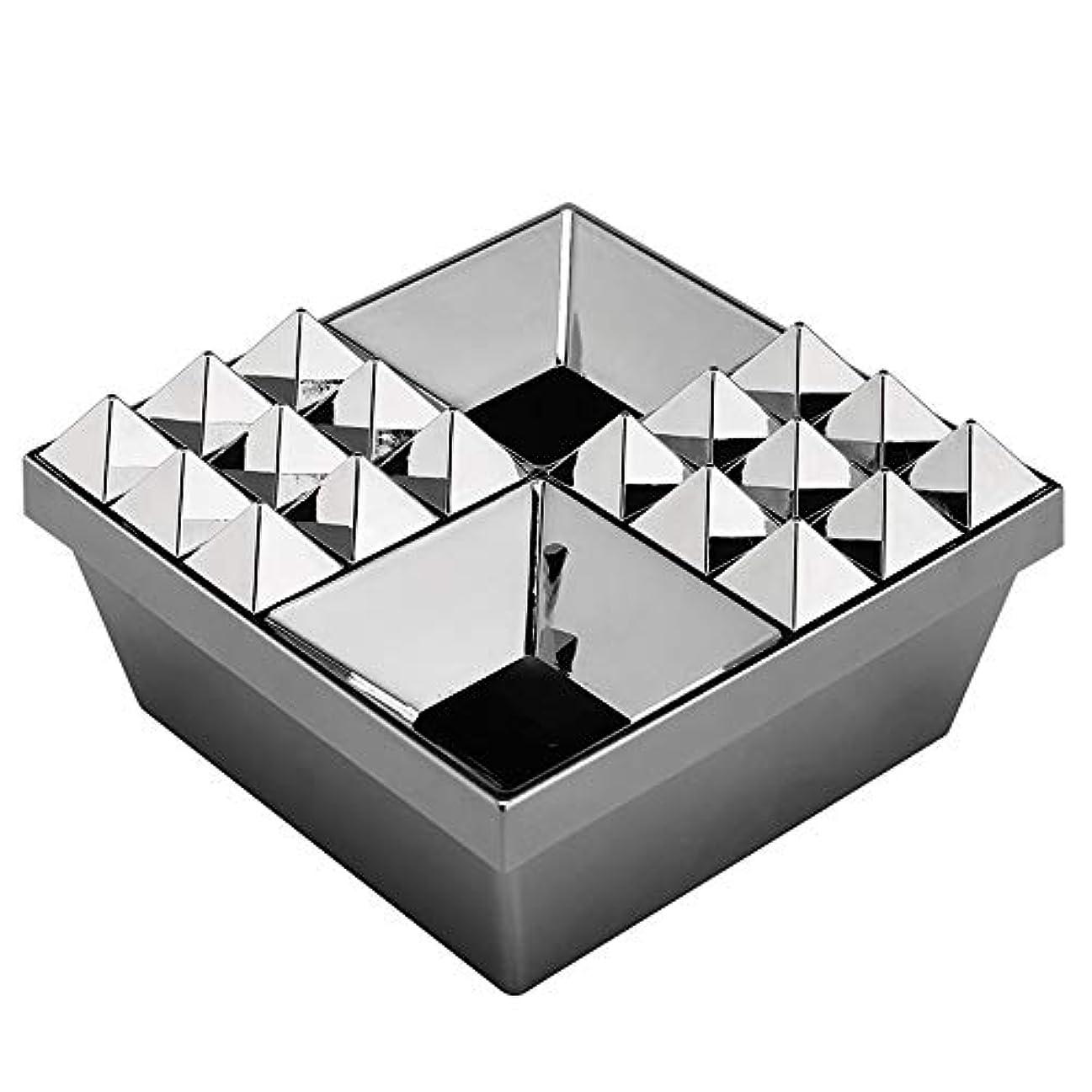 私たち自身王位シンプルさふたの家の装飾とタバコの創造的な灰皿のための灰皿 (色 : 銀)