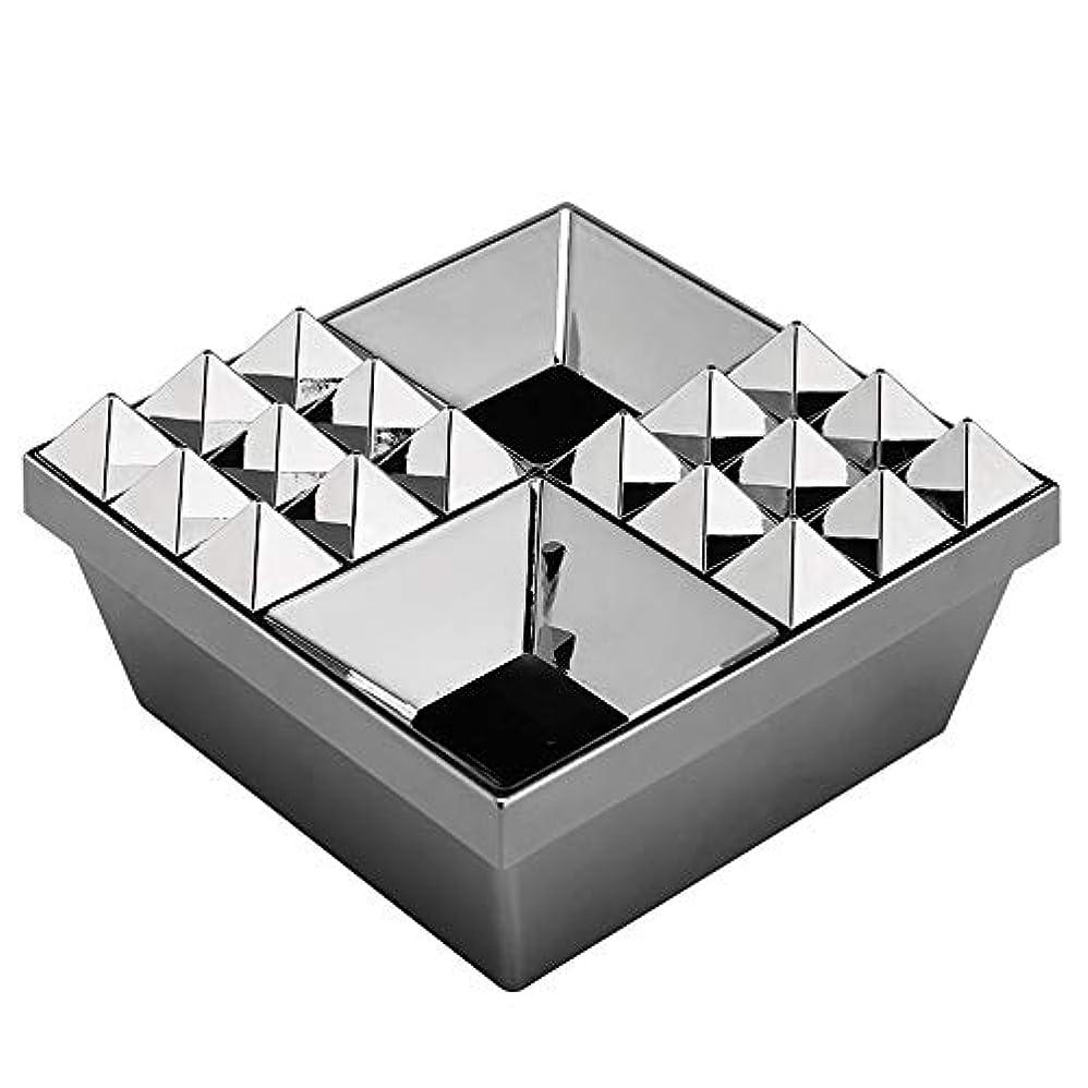 社会学王族エリートふたの家の装飾とタバコの創造的な灰皿のための灰皿 (色 : 銀)