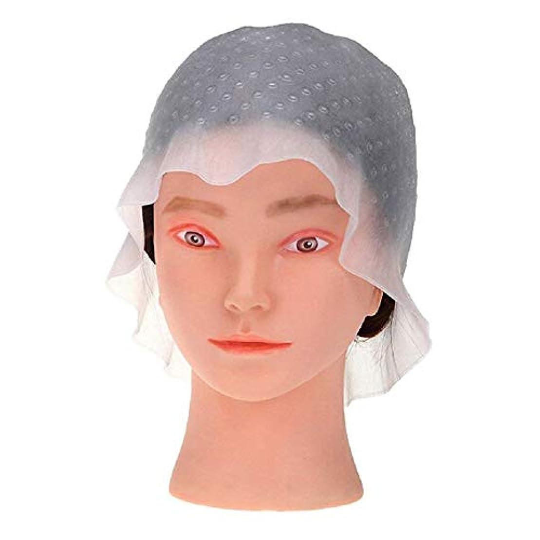 愛ドックペレットヘアキャップ 髪染め用 毛染め ヘアカラー メッシュ シリコン ウィービング 使用やすい DIY 自宅 洗って使える 再利用可能