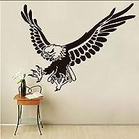 Wuyyii 44×57センチイーグルフライング動物ウォールステッカー用キッズルームの壁の装飾取り外し可能なビニールの壁アートデカール家の装飾アクセサリー