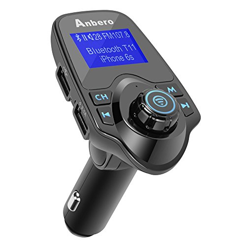 FMトランスミッター 車載トランスミッターBluetoothワイヤレス発信機SDカード&USBメモリー対応充電可能2つUSBポート車の電圧測定可能ハンズフリー 通話機能
