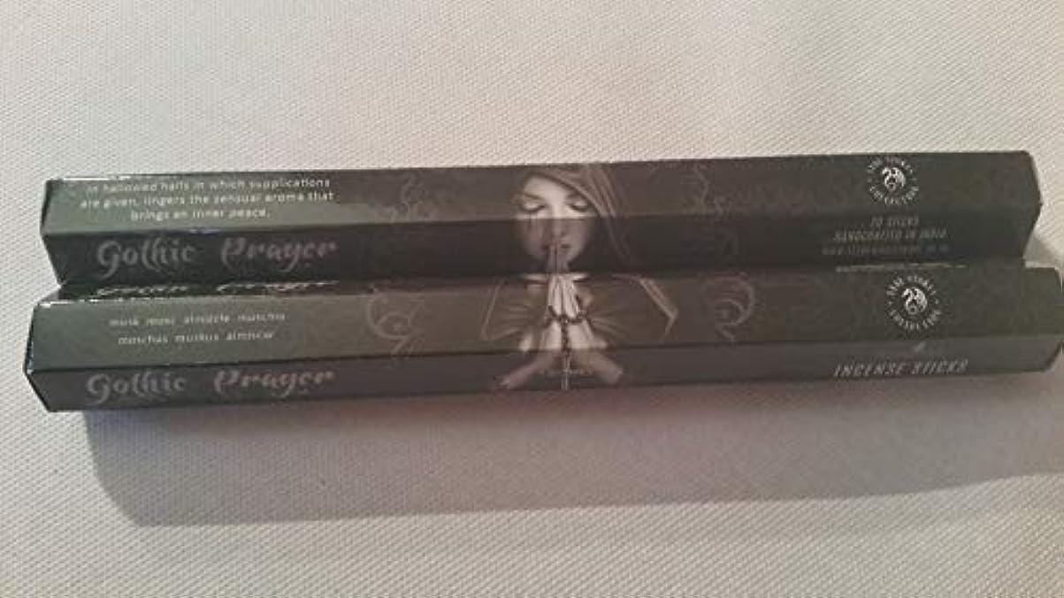 地平線海峡ひも称賛Pack Of 6 Gothic Prayer Incense Sticks By Anne Stokes