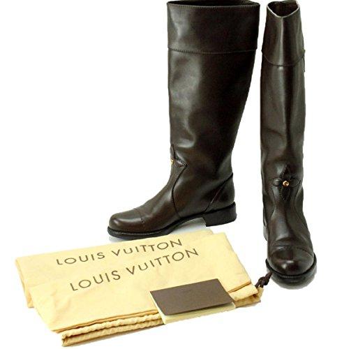 ルイ ヴィトン 靴 ロング ブーツ レザー 35 1/2 レディース
