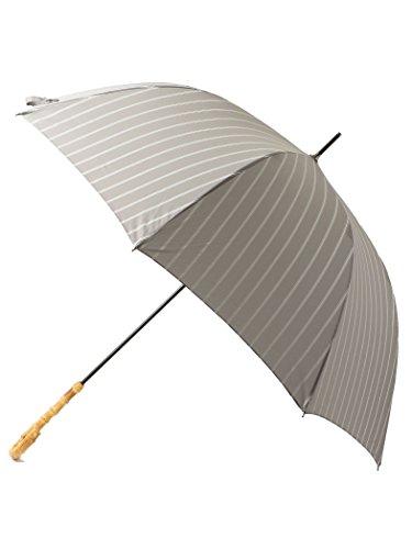 [ユナイテッドアローズ グリーンレーベル リラクシング] 傘 バンブー ハンドル LT.GRAY(11) Free