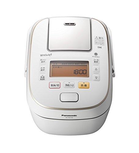 パナソニック5.5合炊飯器圧力IH式Wおどり炊きスノークリスタルホワイトSR-PW106-W