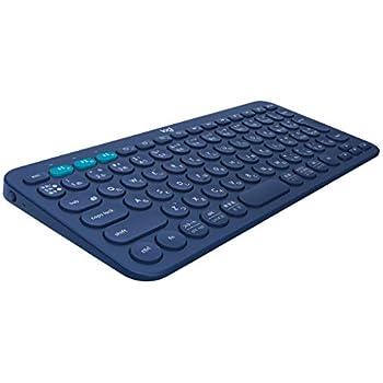 ロジクール ワイヤレスキーボード 無線 キーボード 薄型 小型 K380BL Bluetooth K380 ワイヤレス マルチOS: Windows Mac iOS Android Chrome