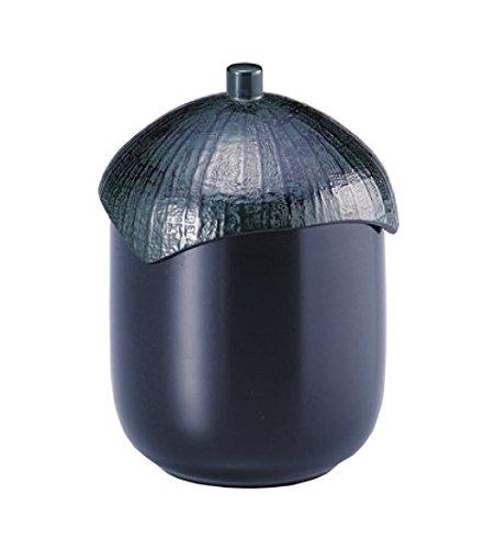 若泉漆器 食洗器対応お椀 なす型小吸椀 黒 W-9-53 越前漆器