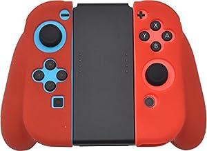 PLATA 任天堂 Nintendo Switch Joy-Con ジョイコン ジョイコングリップ シリコンラバー ケース ソフト 【 レッド 】
