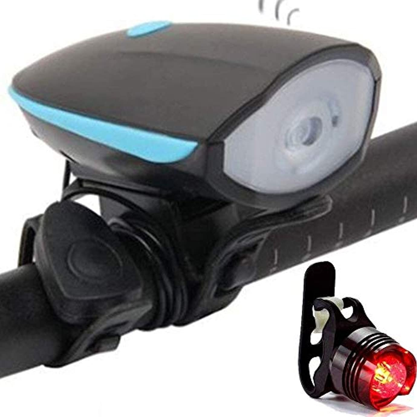 マッサージハイブリッドと組むFJGLHEJG LED自転車ライト前面と背面のセットUSB充電式フロント自転車ライト防水明るい懐中電灯サイクルライトはめあいすべてのマウンテンロード自転車用