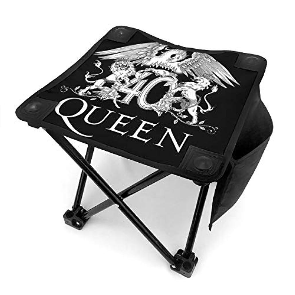 ビジョン協力的折Queen Band クイーンバンド アウトドアチェア 折りたたみ椅子 イス コンパクトチェア 耐荷重100kg 収納バッグ付き 野外イベント 携帯便利