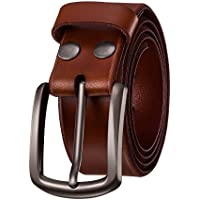 "KEEPBLANCE Men's Classic Casual Jean Style Strong Built Genuine Leather Belt (1.5"" Width)"