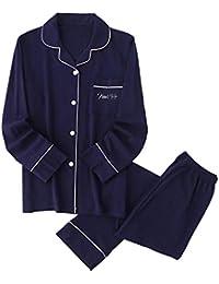 パジャマ 綿100% ルームウェア 上下セット 前開き 衿付き ポケット付き 長袖&長ズボン ふんわり シンプル 肌に優しい 部屋着
