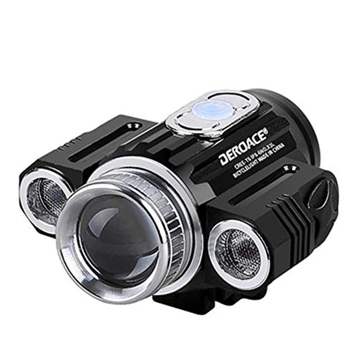 熟練した並外れて挽く自転車ライト、マウンテンバイク防水高輝度ヘッドライト、自転車付属品DC充電ナイトライディングライト