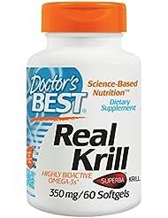 海外直送品 Doctors Best Real Krill, 60 sofgels